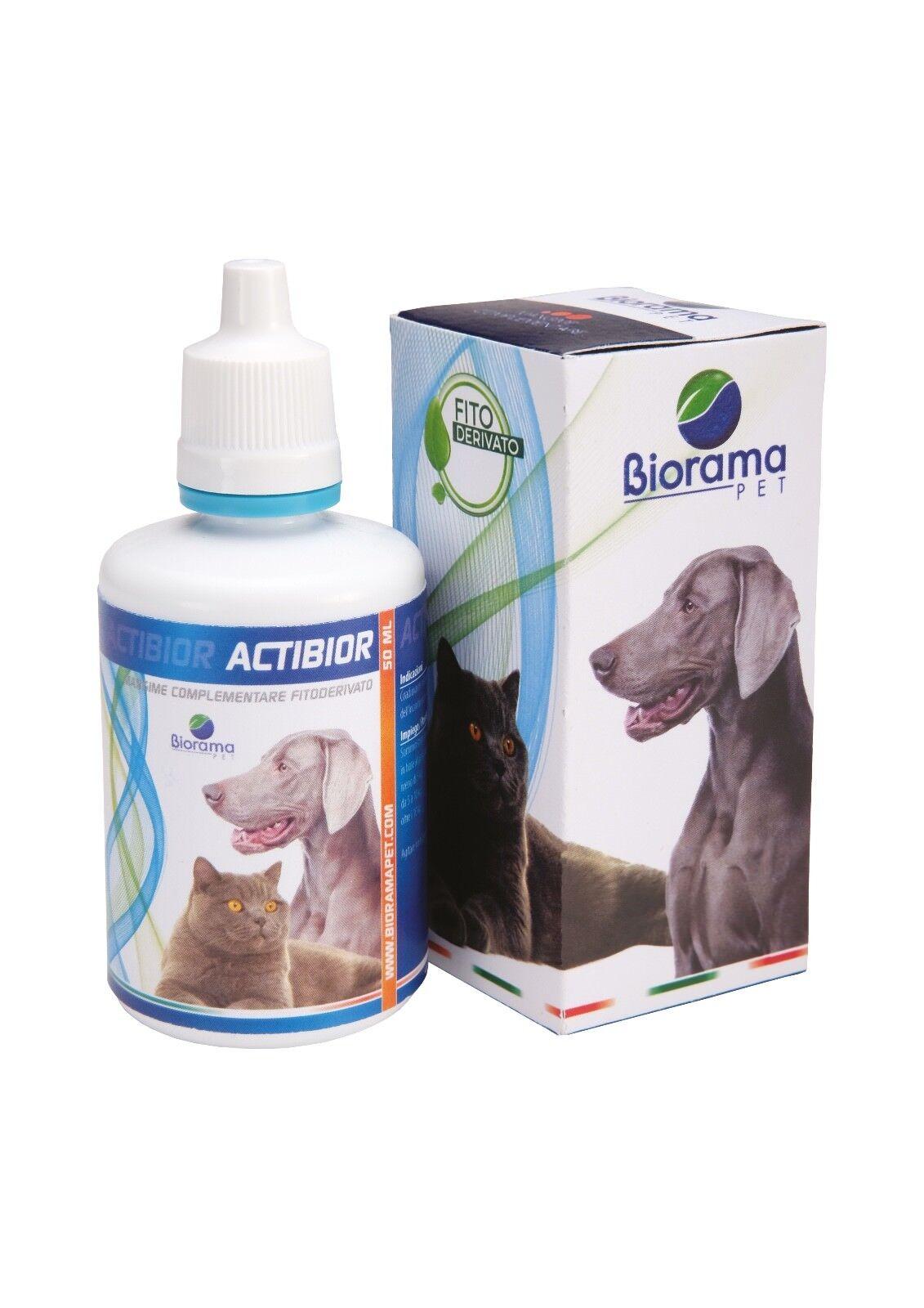 ACTIBIOR Mangime complementare fitoderivato per cani gatti incontinenti Biorama