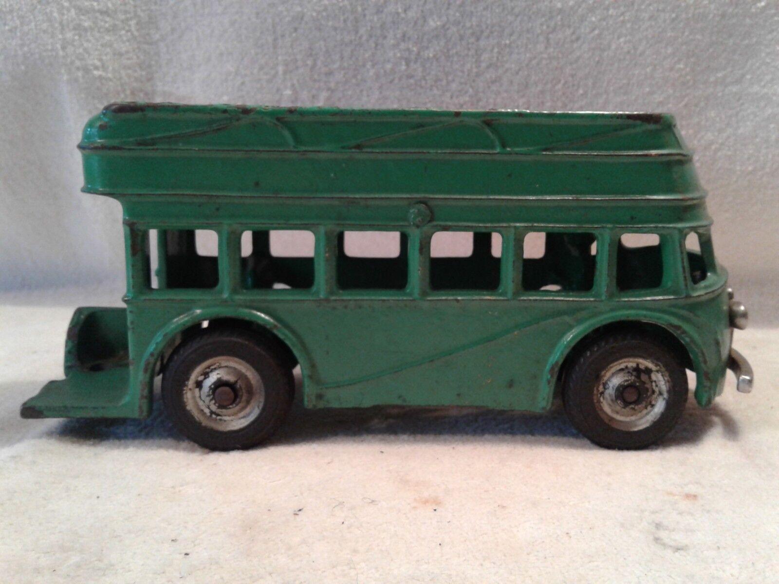 1940-41 Hierro Fundido Arcade Juguetes Doble Decker Autobús con controladores no escalera dividida en unidades