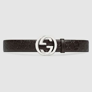 422bd5a8e NWT GUCCI Men's classic brown gucci signature leather belt ITALY 38 ...