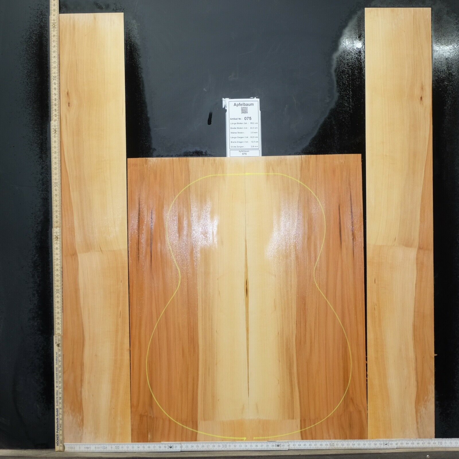 Tonewood Apfelbaum Apfel Tonholz Guitar Builder Acoustic Backs and sides SET 075