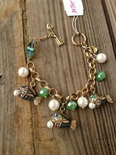 Betsey Johnson Fish With The Pearl Toggle Bracelet