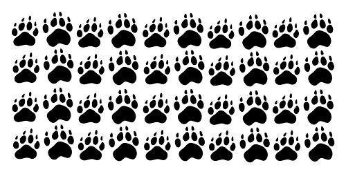 Pawprints Pattern Pot Handle Holder-Set of 2 Handmade-Pizazz Creations