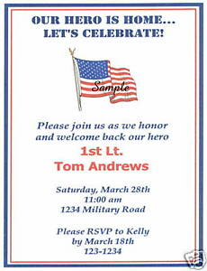 20 custom homecoming invitations military american flag ebay