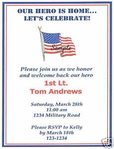 20 custom homecoming invitations military american flag ebay