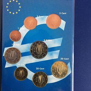 KMS IRLAND 2002 - 1 Cent bis 2 Euro - unz. / unc. -SELTEN-RAR-Erstes Prägejahr