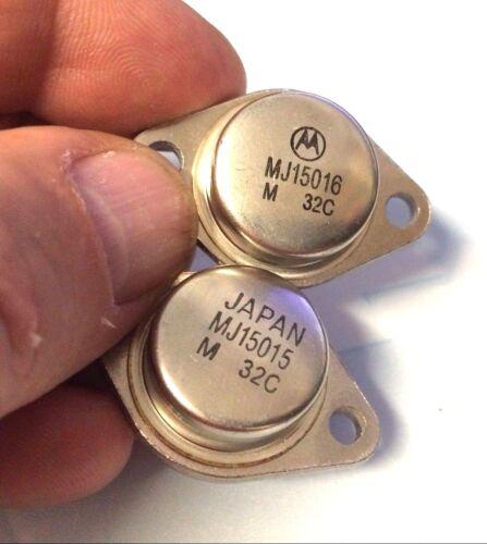 PNP Transistor de puissance 15 A 180 W 2 Paire 2x MJ15015 2x MJ15016 négatif Positif Négatif