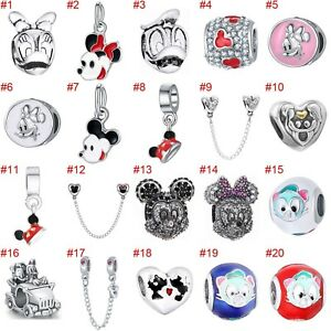 European-Silver-Enamel-Mouse-Charms-Beads-Xmas-Pendant-Fit-925-Sterling-Bracelet