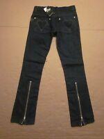 Womens Truth Soul Armor Rocker In God We Trust Denim Blue Jean Pants Size 1
