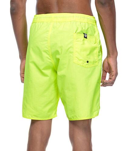 M Neff Mens Neon Yellow Board Shorts Swim Trunks NWT S XL L