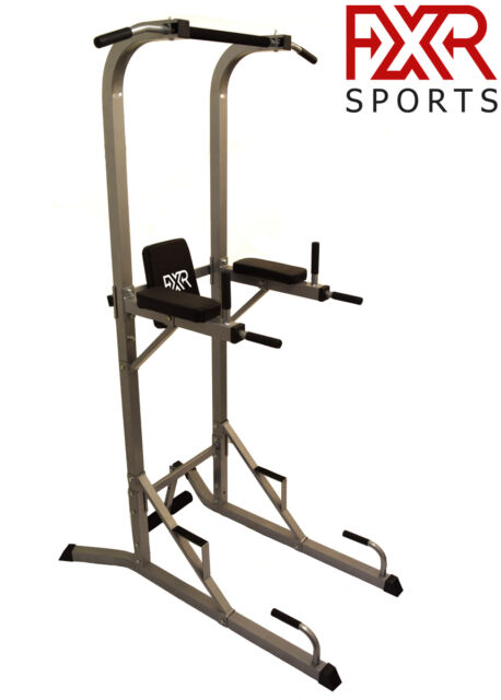 FXR SPORTS POWER TOWER TRICEP DIP STATION PULL PUSH SIT UP CRUNCH BAR