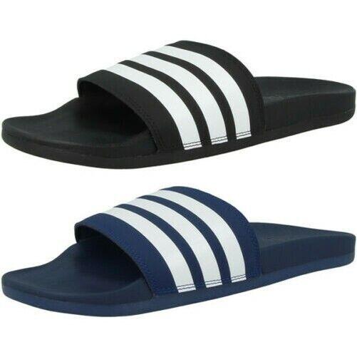 Adidas Adilette Confort Tongs Chaussures De Baignade Sandales Rayures Mocassins