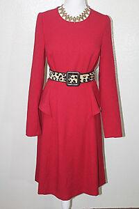 8 peplum voering Dames Mischka Scarlet Badgley 395 Sz zijwaartse mouwen lange jurk Nwt met met 6qgnXSOwnt