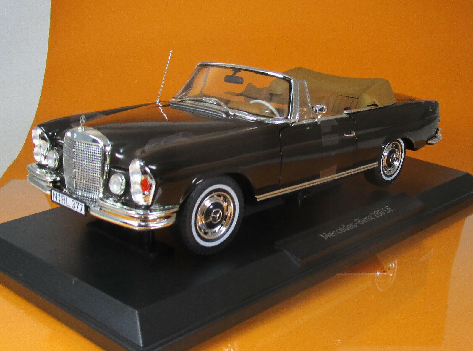 NOREV 183568 Mo 280 SE Cabriolet 1969 Dark marron Scale 1 18