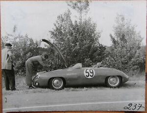 104 . 24 Heures Du Mans . 1 X Photo . Monopole X 84 . 1953 . Format : 12 X 9 Cm Doux Et AntidéRapant