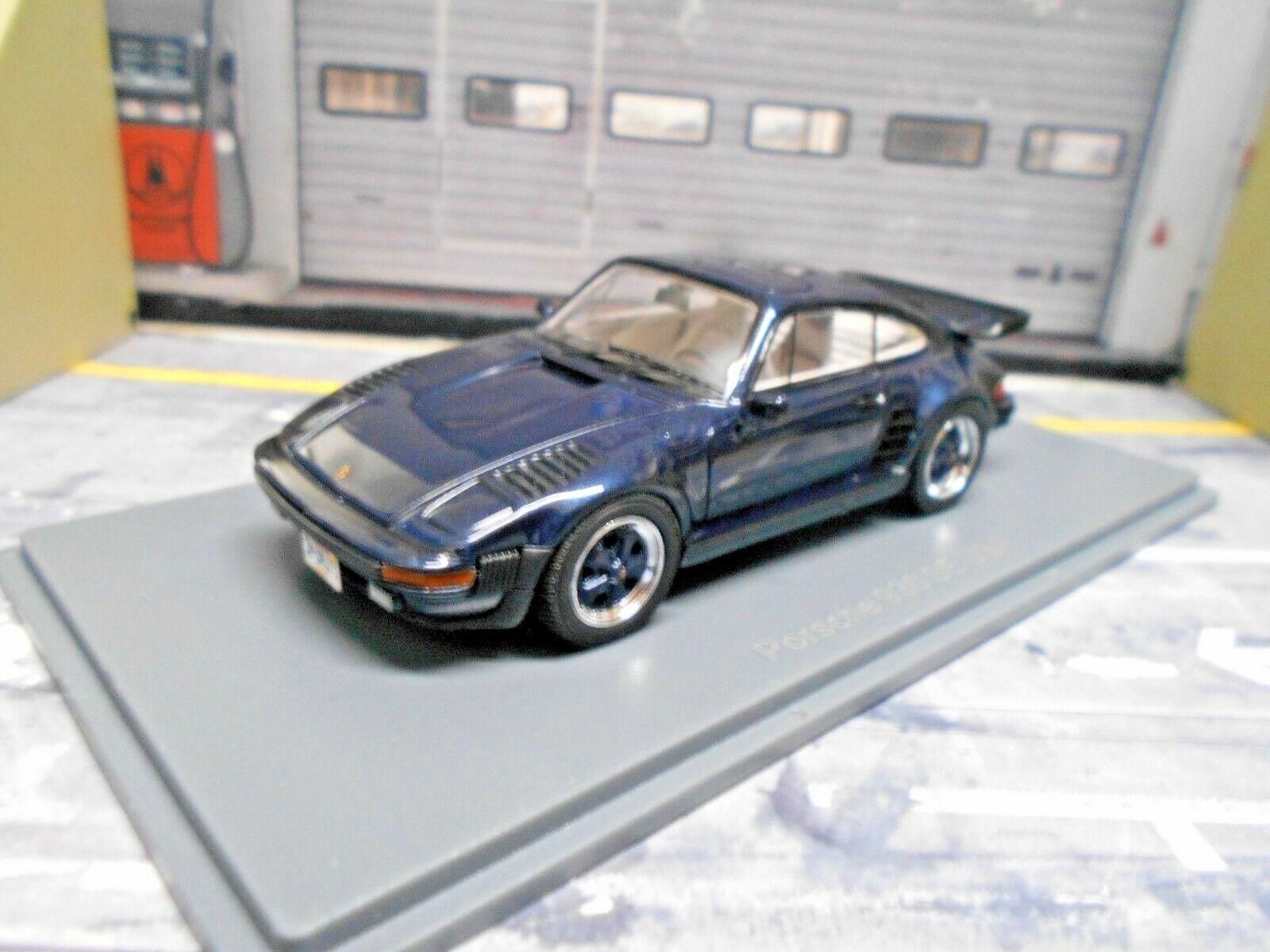 Porsche 911 930 Turbo se flatnose nariz plana 935 azul azul 1987 neo resin 1 43
