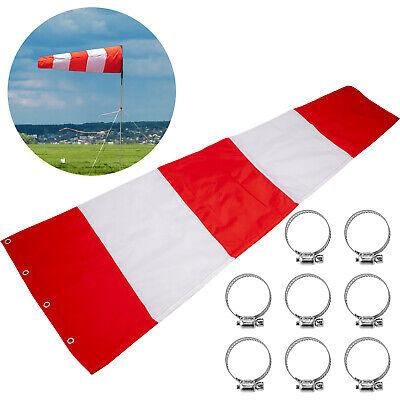 "Airport Windsock Wind Direction Sock 18/""x72/"" Aviation Wind Sock Orange w// White"