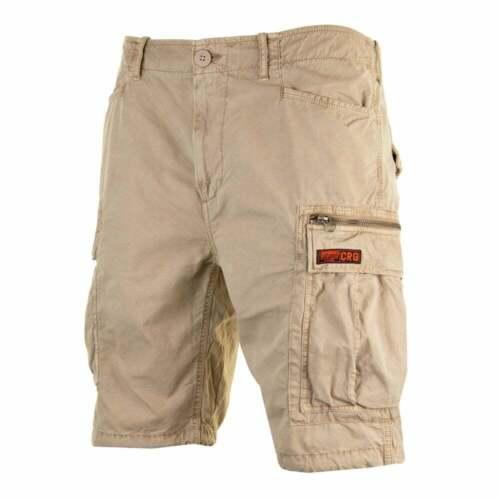 sabbia Camicia Superdry Mens Parachute Pantaloni Corti con Tasconi