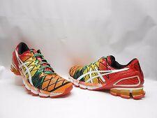 Asics Gel-Kinsei 5 Running Sneakers Mesh Red Yellow Orange Mens Size 9.5 FMWB!