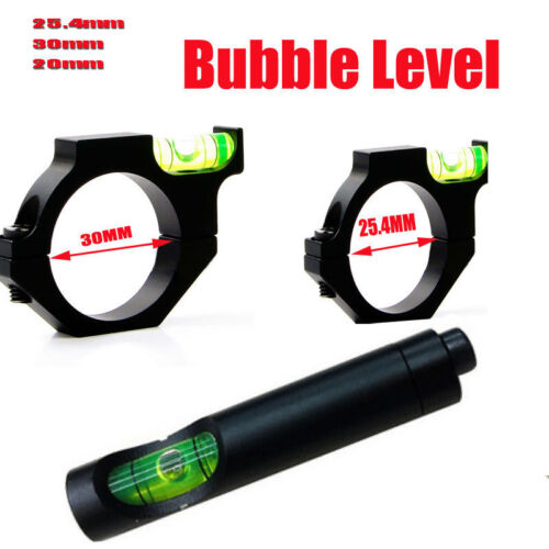 Alloy Rifle Scope Laser Bubble Spirit Level For Ring Mount Holder 4 Sizes New