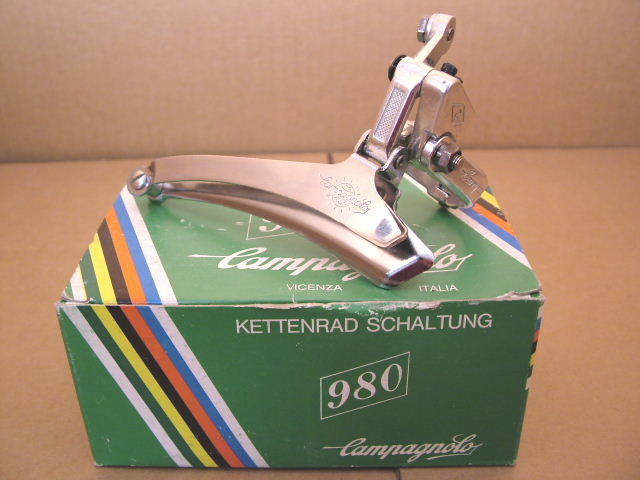 New-Old-Stock Campagnolo (Campy) 980 Front Derailleur...Clamp-On (28.6 mm) Model