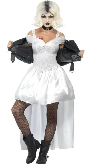 Ladies Bride Of Chucky Halloween Horror Film Scary Fancy Dress Costume Outfit