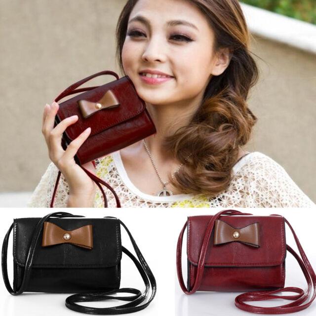 New Women PU Leather Shoulder Bag Handbag Satchel Crossbody Messenger Tote Purse