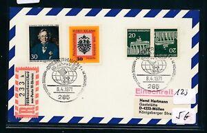 10624) Spécial R-ticket De Bremerhaven Mer Du Nord-que Posta..., Kte Sst Clé 8.4.71-.., Kte Sst Schlüssel 8.4.71fr-fr Afficher Le Titre D'origine