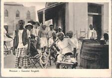 Massawa, Eritrea - smoking a hookah - postcard c.1930s