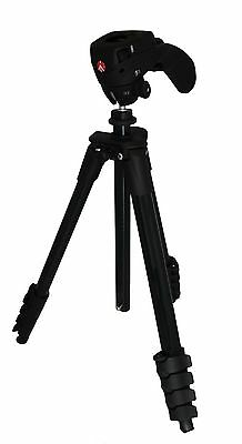 Manfrotto Compact Action Tripod - Black - MKCOMPACTACN-BK - With Bag - VG