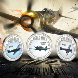 WR-World-War-2-Churchill-Coin-Set-WWII-US-UK-Germany-Fighter-Planes-Collectables
