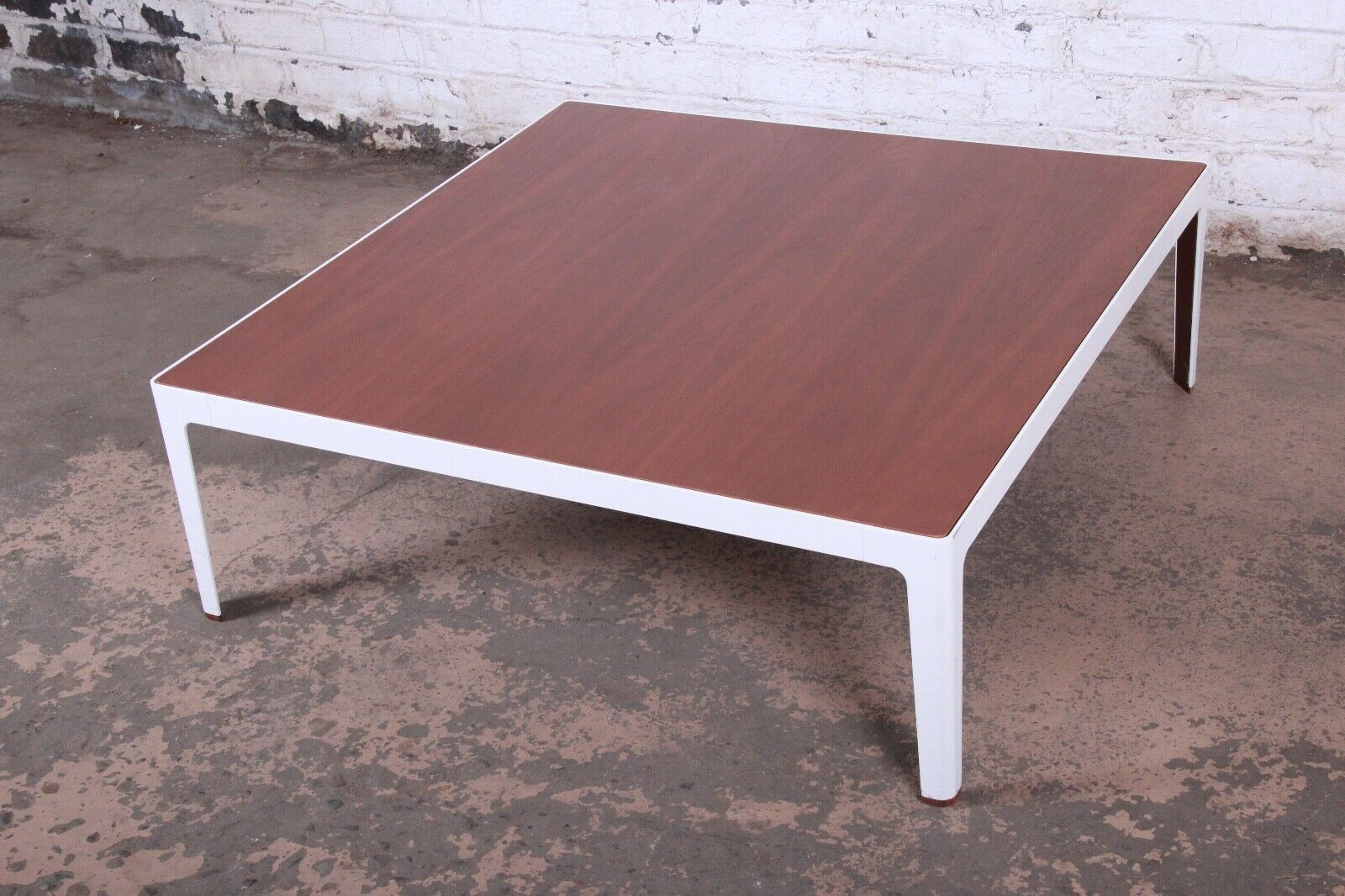 Extra Large Modern Designer Square Low Walnut 1 2mt Coffee Table 397e For Sale Online Ebay