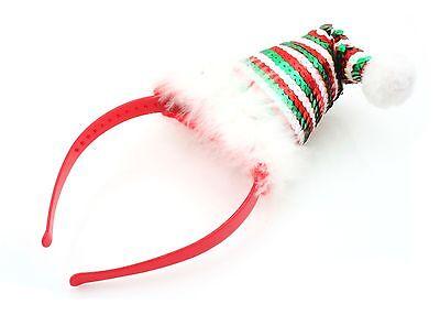Zest Natale Paillettes Santa Hat Alice Banda Rosso Verde Bianco-mostra Il Titolo Originale