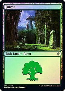 Forest 269 FOIL Khans of Tarkir PLD Basic Land MAGIC MTG CARD ABUGames