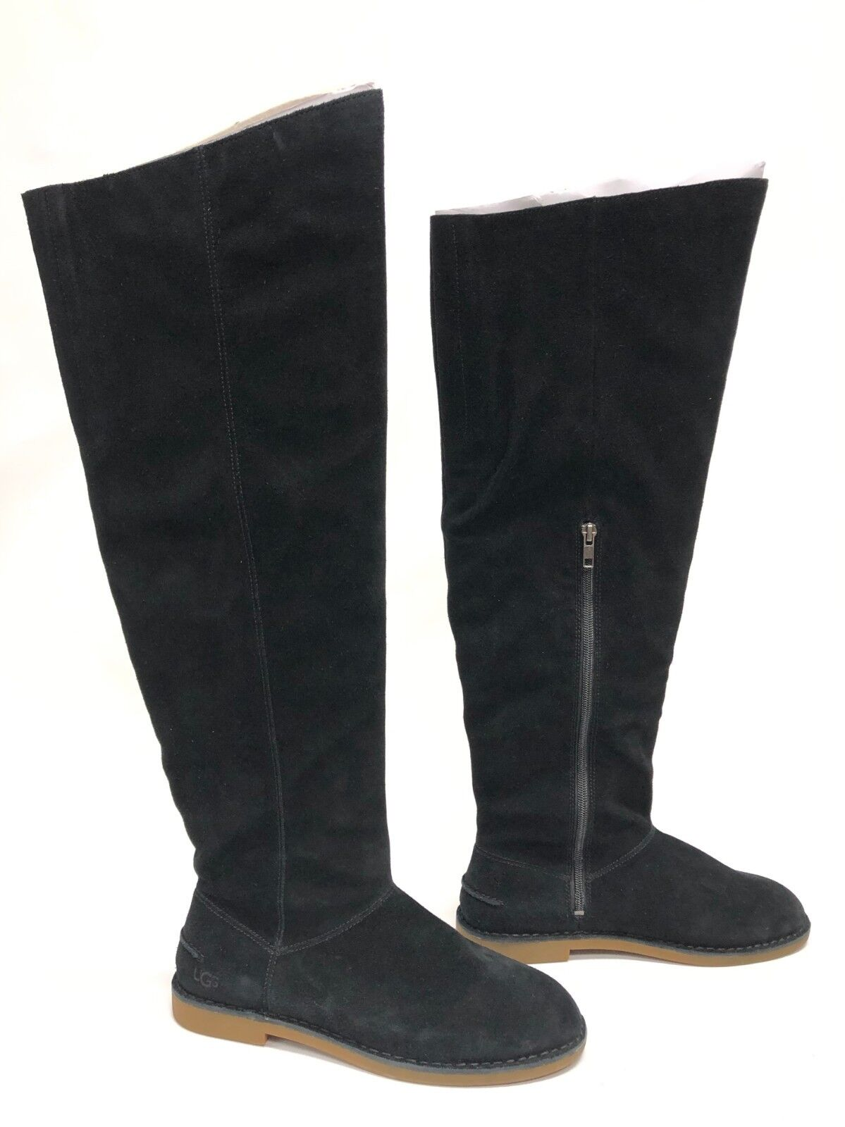 7b813d52237 Uggs Australia UGG Loma Over The Knee BOOTS Black 8.5 Suede 1095394 for  sale online