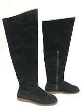 41feb179f4a Uggs Australia UGG Loma Over The Knee BOOTS Black 8.5 Suede 1095394