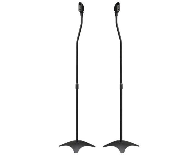2x SPEAKER STANDS MODERN SATELLITE HOME THEATRE SURROUND SOUND REAR OR FRONT