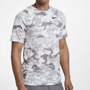 Details about Nike 923524 100 Men's Dri Fit Comfortable WhiteBlack Camo Training T Shirt