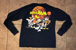 Space Jam Bugs Bunny Navy Blue Graphic Long Sleeve T Shirt Adult Size Xl Ebay