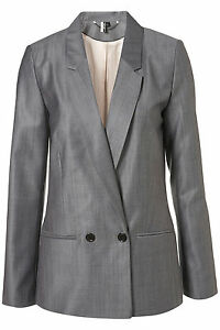 Euro 38 Premium Blazer Topshop Coat Jacket Grey Uk 6 10 Tonic Us Outerwear Bnwt zTdATvfqw