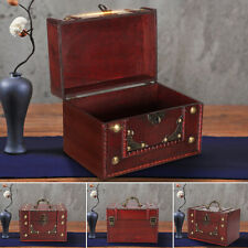 AU Wooden Oversize Vintage Jewellery Treasure Box Keepsake Case Storage Chest