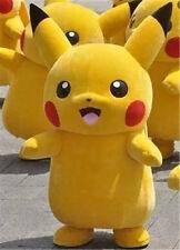Pikachu Adult Mascot Costume Halloween Party Pokemon Go Cosplay Game
