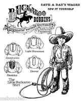 Buckaroo Bobbins Boys Little Buckaroo Western Shirt 5 Styles 4-14 Sewing Pattern