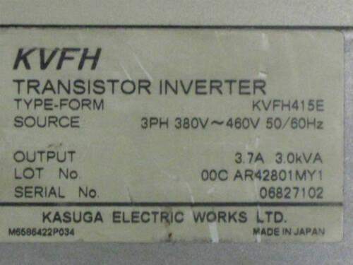 KASUGA KVFH415E Transistor Inverter Type KVFH 3kVA 380-460VAC *Tested*