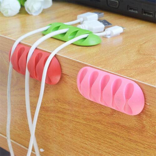 Kabelaufwicklung Kopfhörer Organizer Wire Storage Ladegerät Kabelhalter Clips