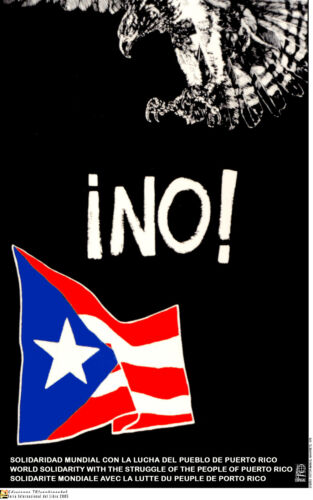 Political POSTER.Puerto Rico Independence Flag.Anti-Imperialist Communist Art.12