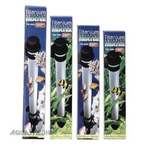 Aqua Medic Élément chauffant pour aquarium en titane - Chauffe-eau en titane 100/200 300 500 watts