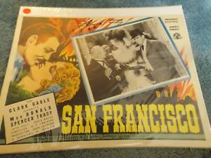 SAN-FRANCISCO-1936-CLARK-GABLE-ORIGINAL-MEXICAN-LOBBY-CARD