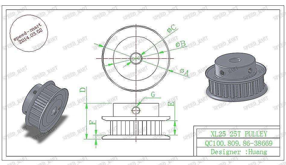 xl type xl24t aluminum timing belt pulley 24 teeth 6mm