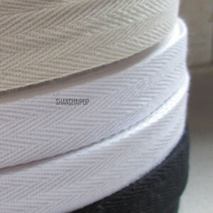 45M-Cotton-Binding-Tape-Bias-Ribbon-Strap-Sewing-Craft-Webbing-Trimmings-DIY-Hot