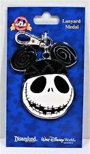 Disney Nightmare Before Christmas Jack Skellington & Mickey Ears Lanyard Medal